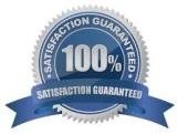 Satisfaction guaranteed ribbon